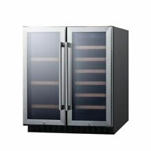 30  Wide Built In Undercounter Dual Zone Wine And Beverage Cooler