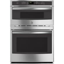 GE Profile Self cleaning with Steam Convection Microwave Wall Oven Combo