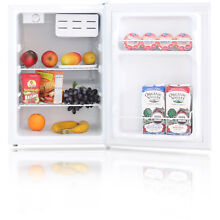 Compact Single Door Refrigerator Mini Bar Office Fridge Manual Defrost White New