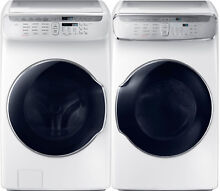 Samsung White Flex Washer   Electric Dryer WV60M9900AW and DVE60M9900W