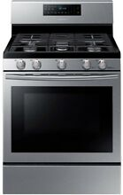 Samsung 30 in  5 8 cu  ft  Gas Range with Self Cleaning and Fan Convection Oven