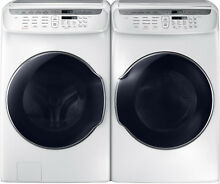 Samsung White Flex Washer   Electric Dryer WV55M9600AW and DVE55M9600W