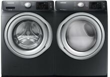 Samsung Black Stainless Front Load Washer Electric Dryer WF45N5300AV DVE45N5300V