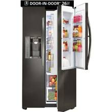 NEW LG 26 1 Cu Ft Side By Side Refrigerator   BLACK Stainless