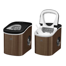 Portable Countertop Ice Cube Maker Machine Stainless Steel Ice In