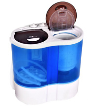 Portable Mini Washing Machine Compact Twin Tub 15lbs Washer Spin RV Camping Trip