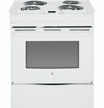 GE Appliances GE Appliances JS250DFWW 30  Slide In Electric Range   White