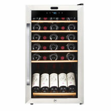Whynter 34 Bottle Freestanding Stainless Steel Refrigerator with Display Shel