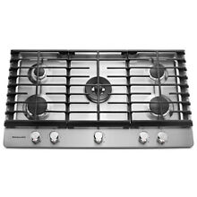 KitchenAid  36  5 Burner Gas Cooktop  Stainless Steel  KCGS556ESS