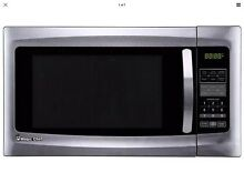 Magic Chef Countertop Microwave 1 6 cu  ft  Stainless Steel Child Safety Lock