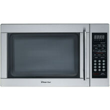 Magic Chef MCD1310ST 1 3 Cu  Ft  1000W Countertop Microwave Oven in Stainless