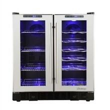 36 Bottle Touch Screen Mirrored Wine   Beverage Cooler