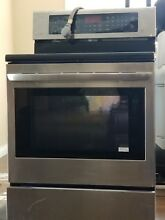 Lg electric range oven and over the range microwave oven