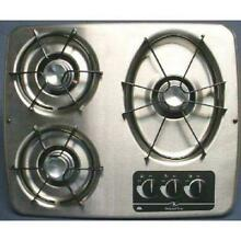 Atwood 56472 DV30 S Stainless Steel 3 Burner Drop In Cooktop