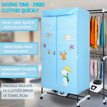 Portable Folding Electric Clothing Dryer 1000W Heater Wardrobe Drying Rack Home