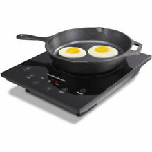 Electric Induction Portable Cooktop Hot Plate Stainless Steel Enameled Cast Iron