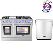Thor 48  Freestanding Professional Gas Range HRG4808U and 24  Dishwasher Home US