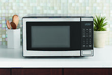 Stainless Steel Microwave Oven  Dorm Room Kitchen Countertop Child Lock Small