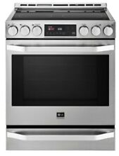 LG Studio Stainless Steel Electric Slide in Smoothtop Range LSSE3026ST