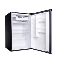 Haier 4 5 cu ft Compact Refrigerator  Virtual Steel