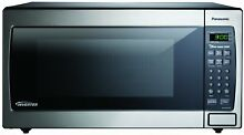 Panasonic Stainless 1 6 Cu  Ft  Countertop Built In Microwave w  Inverter   New