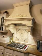 Custom Kitchen Hood Surround  Range and Vent cover  Cast stone Mantel