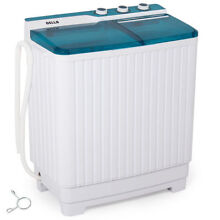Portable Compact Twin Washing Machine Washer Spin Dry Cycle 9KG Travel RV Dorm