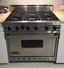 Viking 36  Professional Series 6 burner  all gas range VGIC365 6BSS