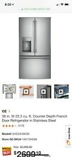 Counter depth refrigerator stainless
