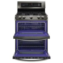 LG LG LDG4313BD 6 9 cu  ft  Double Oven Gas Range w ProBake Convection8482
