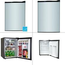 Mini Refrigerator 2 6 Cu Ft Stainless Small Fridge Freezer Compact Dorm Office
