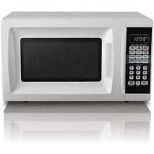 Hamilton Beach 0 7 cu ft Countertop Microwave Oven White 700w Compact Small NEW