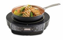 NuWave 30242 PIC Gold Precision Induction Cooktop with 10 5  Fry Pan  Black