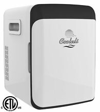 Cooluli CMF15LW Electric Mini Fridge Cooler and Warmer 15 Liter   15 Can  White