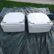 LG Washer Dryer Pedestal 27  wdp3w White Lot of 2 Laundry  LOCAL PICKUP ONLY