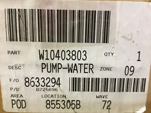 Whirlpool W10403803 Washer Water Pump   Inventory Reduction SALE