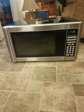 Hamilton Beach MIcrowave oven stainless steel 1 1 CU ft counter top 1000 watts
