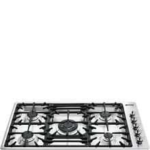 SMEG Classic Series 36  Gas Cooktop Stainless Steel 5 Sealed Burners 34  Wide
