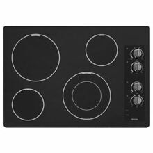 Maytag Smooth Surface Electric Cooktop  Black   Common  30 in  Actual 31 in
