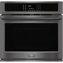 Frigidaire Gallery Black Stainless 30  Single Wall Oven Convection FGEW3065PD