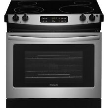 Frigidaire Stainless Steel 30  Electric Self Clean Drop In Range FFED3026TS