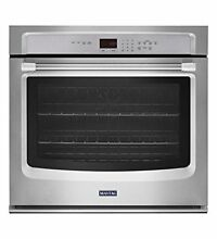 Maytag 27 quot  Stainless Steel Single Electric Wall Oven with True Convection M