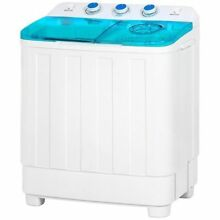 Mini Twin Tub Portable Compact Washing Machine Spins Dry Cycle   12 lbs Capacity