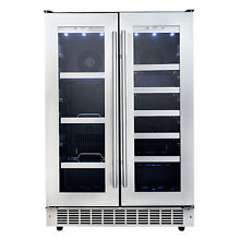 Danby PRO Silhouette 24  Built in Stainless French Door Beverage Center  Wine