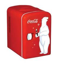 COCA COLA Compact Mini Small Fridge Hot Cold Cooler Office Dorm Car Adapter Red