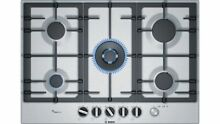 Bosch PCQ7A5M90 Stainless Steel Gas Hob with FlameSelect 75cm Serie 6