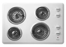 Whirlpool 30 in  Built in Electric White Cooktop WCC31430AW NIB