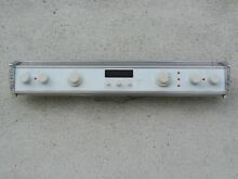 JENN AIR COMPLETE WHITE CONTROL PANEL UNIT WITH SWITCH MODEL S136 C S156 C S166W