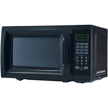 Compact 6 Set Microwave Oven One Touch Fast Home Kitchen Patio 700 Watts Black