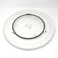Maytag Microwave Turntable Glass Tray   Rotating Ring Fits Many Models 3 Lug